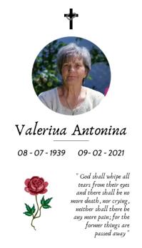 death card in memoriam funeral template desig