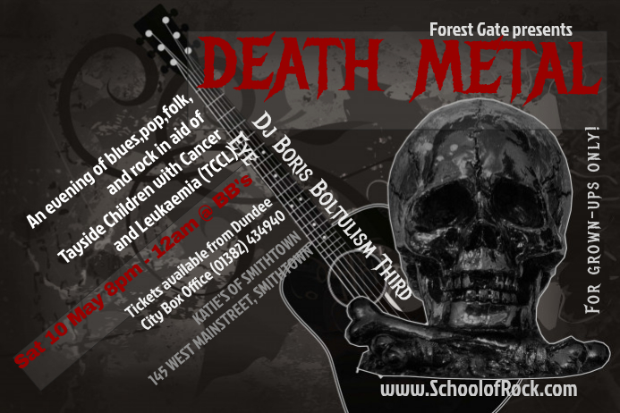 Death Metal Concert Flyer Template  Postermywall