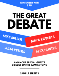 Debate Discussion Flyer