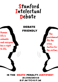 DEBATE FLIER TEMPLATE
