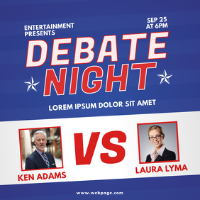 debate night event instagram post template