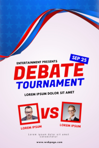Debate tournament Election flyer template