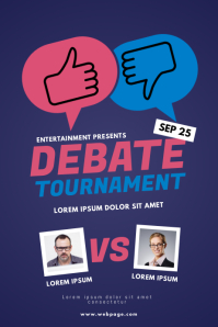 Debate tournament flyer template