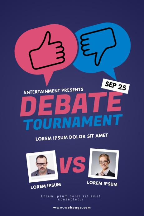 Debate tournament flyer template postermywall - New home design center checklist ...