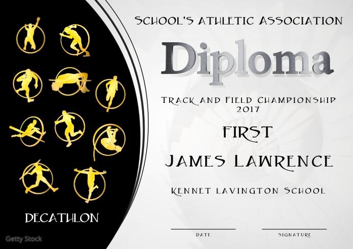 decathlon diploma first