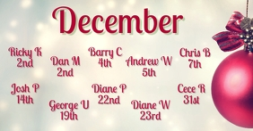 December Birthdays Facebook begivenhed cover template