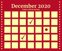 December Calendar 2020 Template Medium Rectangle