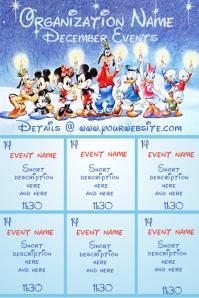 December Calendar - Disney Theme