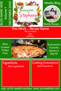 Cooking Blog Newsletter Affiche template