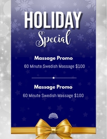 December Massage Special Blue