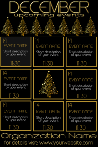 December Monthly Events Calendar