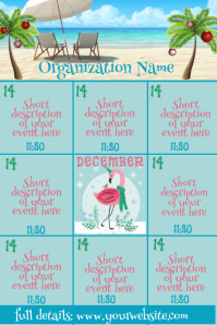 December Tropical Events Calendar