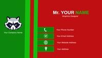 Decent Business Card Design Template Visitkort