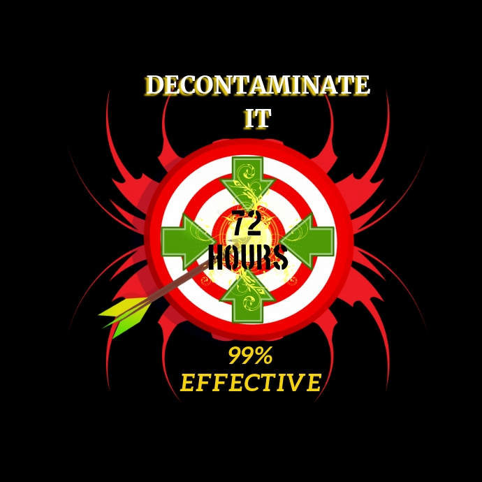 Decontaminate Logo Template