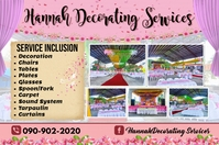 Decorating Services Banner 4' × 6' template