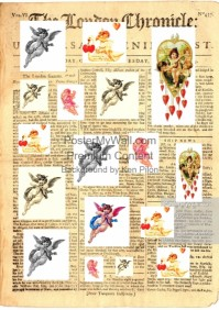 labels decoupage craft angels
