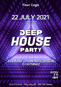 Deep House ELECTRO Music Event Party Psychedelic