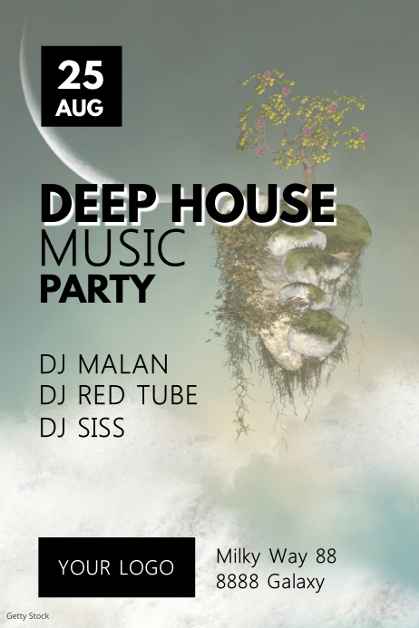 Deep House EDM Music Electronic Event Party