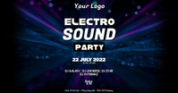Deep House Electro Music Event Party Psychedelic Ad Iklan Facebook template