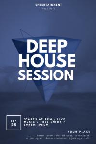 Deep house Flyer Template