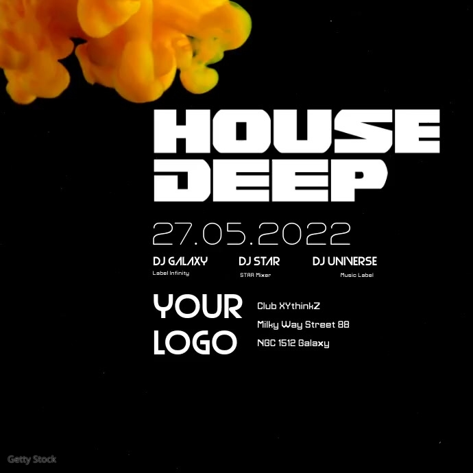 Deep House Party Electronic Music Abstract