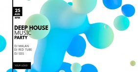 Deep House party electronic music event ad template