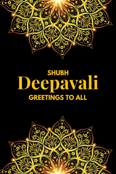Deepavali Greeting Video Poster Template Cartaz
