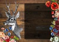 deer minimal indie card