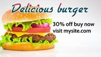 Delicious burger pizza restaurant ads YouTube-miniature template
