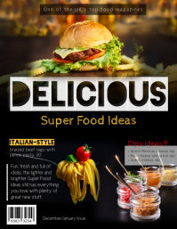 Delicious Food Magazine Cover Template