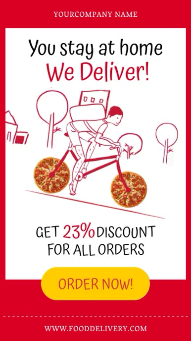 delivery at home Instagram Story template