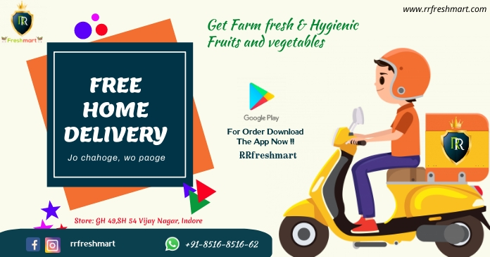 Delivery boy poster Facebook Shared Image template