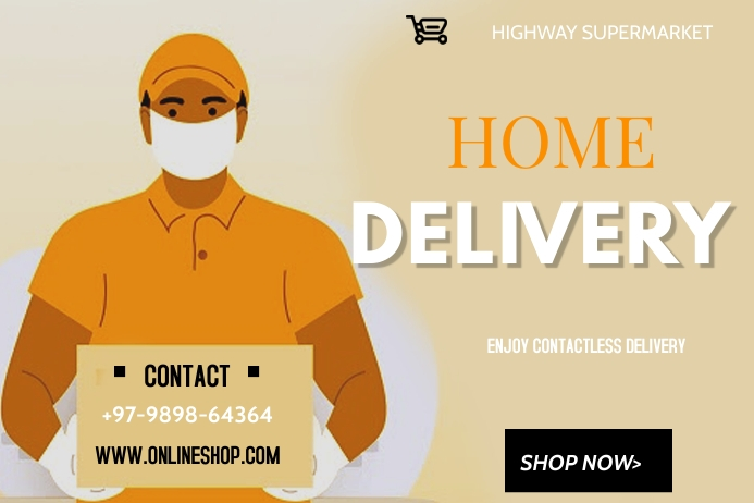 delivery Plakat template
