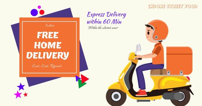 Delivery Ibinahaging Larawan sa Facebook template