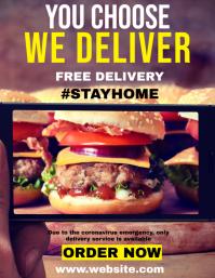 delivery food flyer restaurant