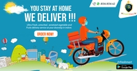 Delivery service Poster Gambar Bersama Facebook template