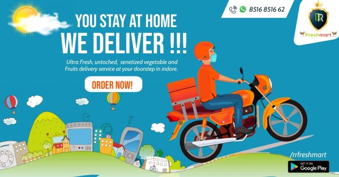 Delivery service Poster Gambar Bersama Facebook template