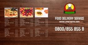 Delivery Service Price List Header Banner Facebook Shared Image template