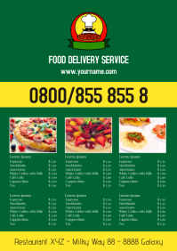 Delivery Service Price List Offers Flyer Ad