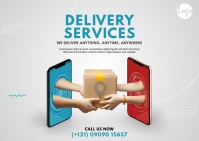 Delivery Services Postcard template