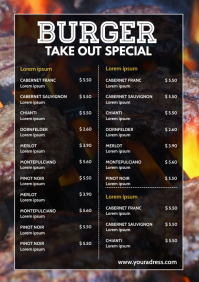 Delivery Take Out Restaurant Menu Card Prices