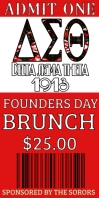 Delta founders day Celebration Ticket Roll Up na Banner 3' × 6' template