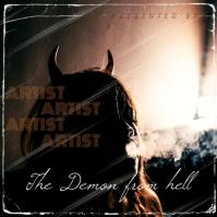 Demon album cover design template