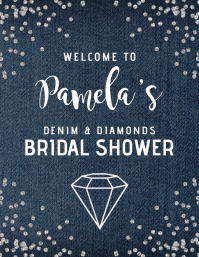Denim & Diamonds Welcome Sign Flyer (US Letter) template