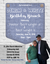 Denim & White Birthday Party