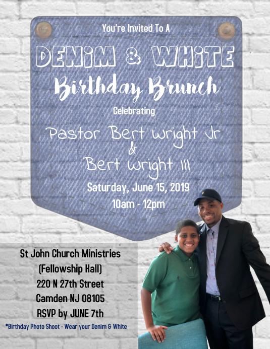 Denim & White Birthday Party