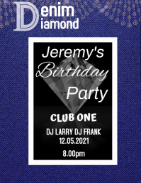 denim and diamonds Flyer (US Letter) template