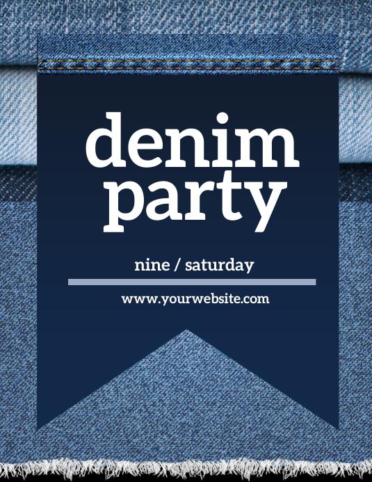Denim and Diamonds Party Iflaya (Incwadi ye-US) template
