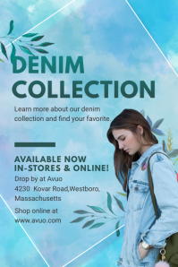 Denim Clothing Collection Poster