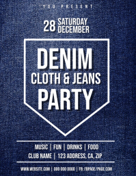 Denim Club Party Flyer Template